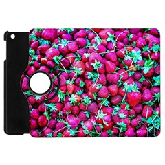 Pile Of Red Strawberries Apple Ipad Mini Flip 360 Case by FunnyCow