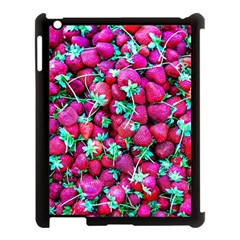 Pile Of Red Strawberries Apple Ipad 3/4 Case (black) by FunnyCow