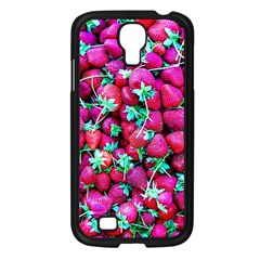 Pile Of Red Strawberries Samsung Galaxy S4 I9500/ I9505 Case (black) by FunnyCow