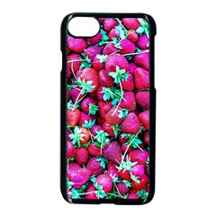 Pile Of Red Strawberries Apple Iphone 7 Seamless Case (black) by FunnyCow