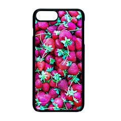 Pile Of Red Strawberries Apple Iphone 8 Plus Seamless Case (black) by FunnyCow
