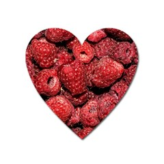 Red Raspberries Heart Magnet by FunnyCow