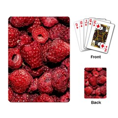 Red Raspberries Playing Card by FunnyCow