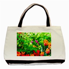 Bleeding Heart Flowers In Spring Basic Tote Bag by FunnyCow