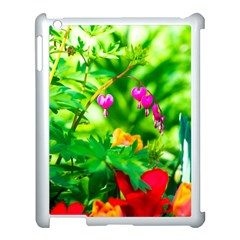 Bleeding Heart Flowers In Spring Apple Ipad 3/4 Case (white) by FunnyCow