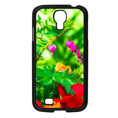Bleeding Heart Flowers In Spring Samsung Galaxy S4 I9500/ I9505 Case (black) by FunnyCow