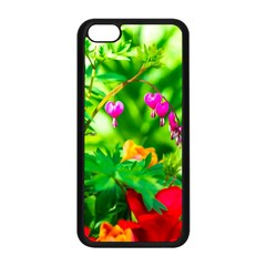 Bleeding Heart Flowers In Spring Apple Iphone 5c Seamless Case (black) by FunnyCow