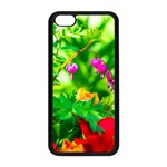 Bleeding Heart Flowers In Spring Apple iPhone 5C Seamless Case (Black) Front