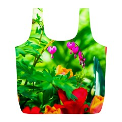 Bleeding Heart Flowers In Spring Full Print Recycle Bags (l)
