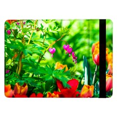 Bleeding Heart Flowers In Spring Samsung Galaxy Tab Pro 12 2  Flip Case by FunnyCow