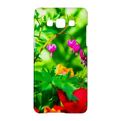 Bleeding Heart Flowers In Spring Samsung Galaxy A5 Hardshell Case  by FunnyCow