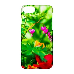 Bleeding Heart Flowers In Spring Apple Iphone 8 Hardshell Case by FunnyCow