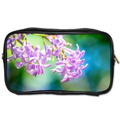 Beautiful Pink Lilac Flowers Toiletries Bags by FunnyCow