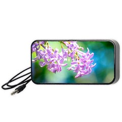 Beautiful Pink Lilac Flowers Portable Speaker by FunnyCow