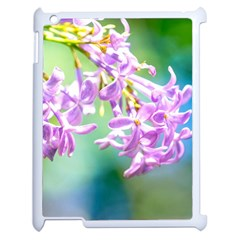 Beautiful Pink Lilac Flowers Apple Ipad 2 Case (white) by FunnyCow
