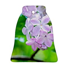 Elegant Pink Lilacs In Spring Ornament (bell) by FunnyCow