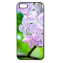 Elegant Pink Lilacs In Spring Apple Iphone 5 Seamless Case (black) by FunnyCow