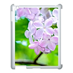 Elegant Pink Lilacs In Spring Apple Ipad 3/4 Case (white) by FunnyCow