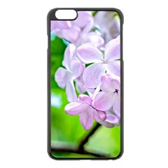 Elegant Pink Lilacs In Spring Apple Iphone 6 Plus/6s Plus Black Enamel Case by FunnyCow
