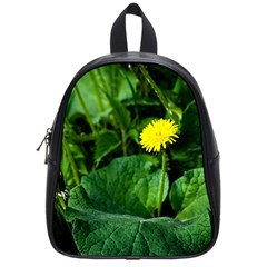 Yellow Dandelion Flowers In Spring School Bag (small) by FunnyCow
