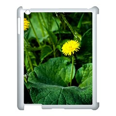 Yellow Dandelion Flowers In Spring Apple Ipad 3/4 Case (white) by FunnyCow