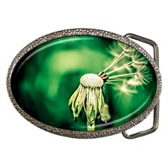 Dandelion Flower Green Chief Belt Buckles