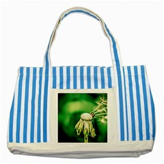 Dandelion Flower Green Chief Striped Blue Tote Bag