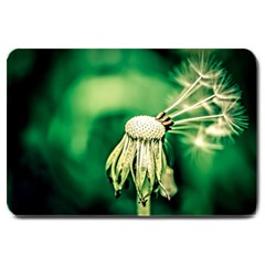 Dandelion Flower Green Chief Large Doormat  by FunnyCow