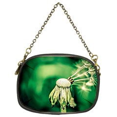 Dandelion Flower Green Chief Chain Purses (one Side)  by FunnyCow