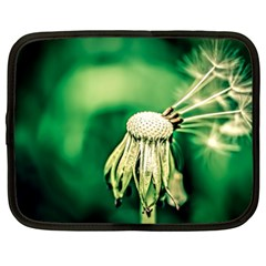 Dandelion Flower Green Chief Netbook Case (xxl)  by FunnyCow