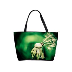 Dandelion Flower Green Chief Shoulder Handbags by FunnyCow