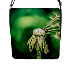 Dandelion Flower Green Chief Flap Messenger Bag (l)  by FunnyCow