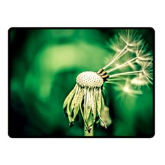 Dandelion Flower Green Chief Double Sided Fleece Blanket (small)  by FunnyCow