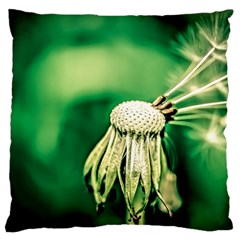Dandelion Flower Green Chief Standard Flano Cushion Case (one Side) by FunnyCow