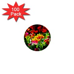 Colorful Tulips On A Sunny Day 1  Mini Buttons (100 Pack)  by FunnyCow