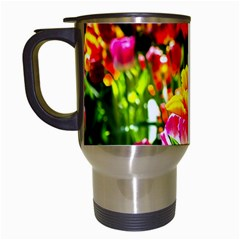 Colorful Tulips On A Sunny Day Travel Mugs (white) by FunnyCow