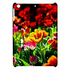 Colorful Tulips On A Sunny Day Apple Ipad Mini Hardshell Case by FunnyCow