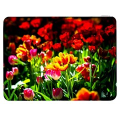 Colorful Tulips On A Sunny Day Samsung Galaxy Tab 7  P1000 Flip Case by FunnyCow