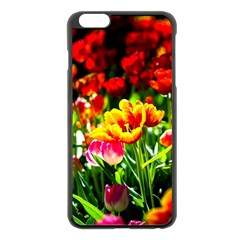 Colorful Tulips On A Sunny Day Apple Iphone 6 Plus/6s Plus Black Enamel Case by FunnyCow
