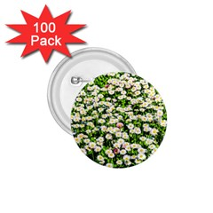 Green Field Of White Daisy Flowers 1 75  Buttons (100 Pack)  by FunnyCow