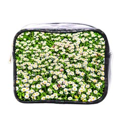 Green Field Of White Daisy Flowers Mini Toiletries Bags by FunnyCow