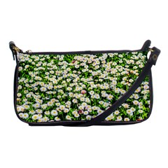 Green Field Of White Daisy Flowers Shoulder Clutch Bags by FunnyCow
