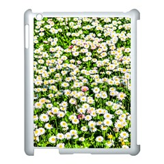 Green Field Of White Daisy Flowers Apple Ipad 3/4 Case (white) by FunnyCow