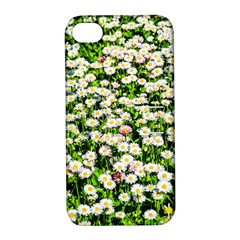 Green Field Of White Daisy Flowers Apple Iphone 4/4s Hardshell Case With Stand by FunnyCow
