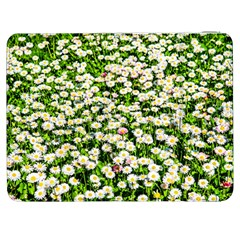 Green Field Of White Daisy Flowers Samsung Galaxy Tab 7  P1000 Flip Case by FunnyCow