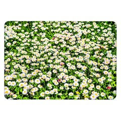 Green Field Of White Daisy Flowers Samsung Galaxy Tab 8 9  P7300 Flip Case by FunnyCow