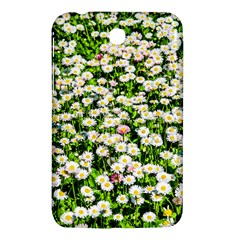 Green Field Of White Daisy Flowers Samsung Galaxy Tab 3 (7 ) P3200 Hardshell Case  by FunnyCow