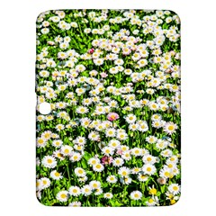 Green Field Of White Daisy Flowers Samsung Galaxy Tab 3 (10 1 ) P5200 Hardshell Case  by FunnyCow