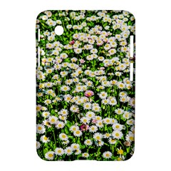 Green Field Of White Daisy Flowers Samsung Galaxy Tab 2 (7 ) P3100 Hardshell Case  by FunnyCow