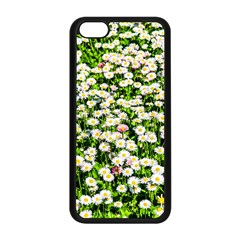 Green Field Of White Daisy Flowers Apple Iphone 5c Seamless Case (black) by FunnyCow
